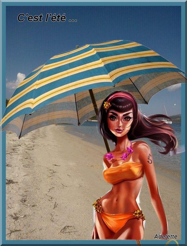 C'est l'été corse et parasol