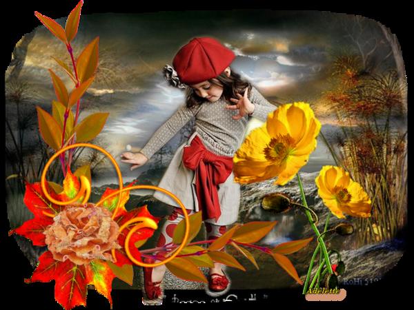 Fillette fleur jaune