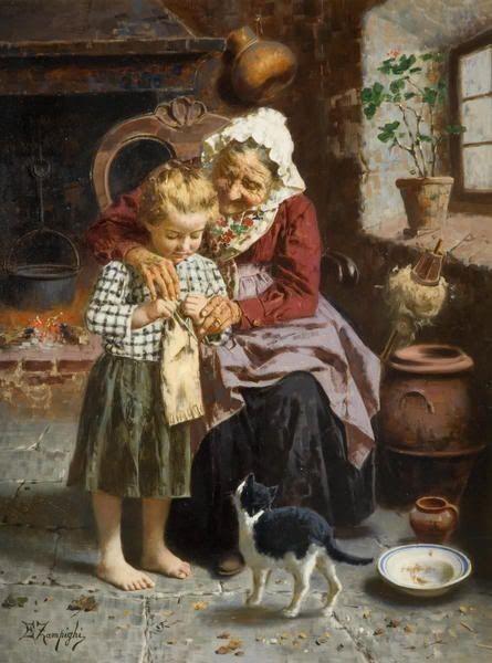 Carte ancienne grand-mère