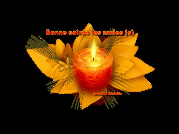 Fleur jaune et bougie