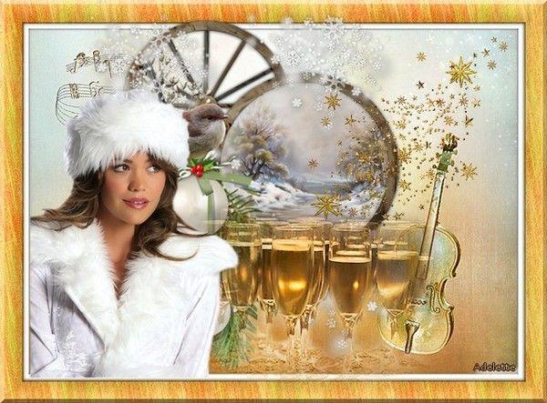 Femme et coupe de champagne