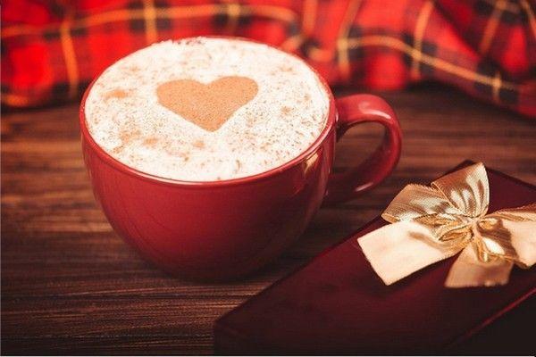 Belle image tasse de café coeur