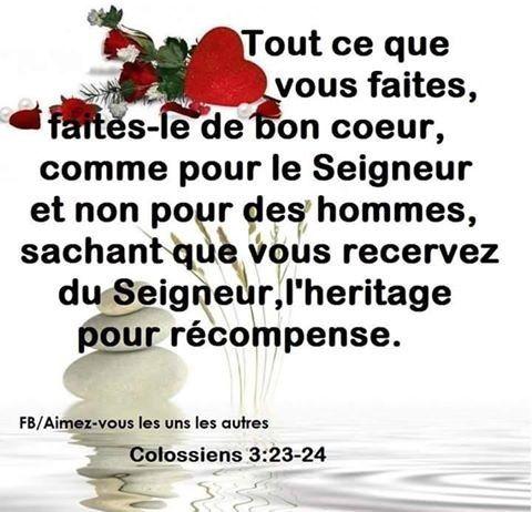 Colossiens 3, 23-24