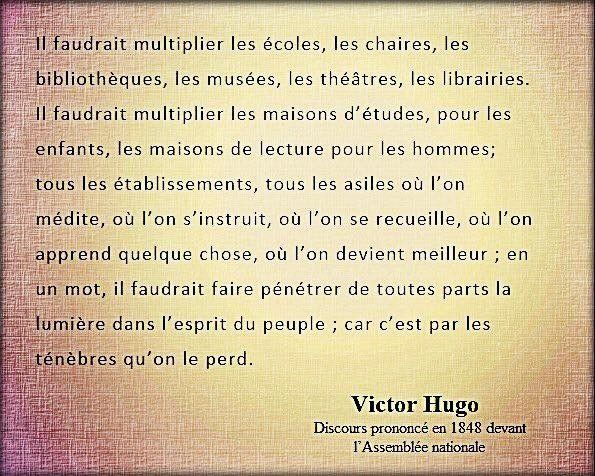 Il faut multiplier Victor Hugo