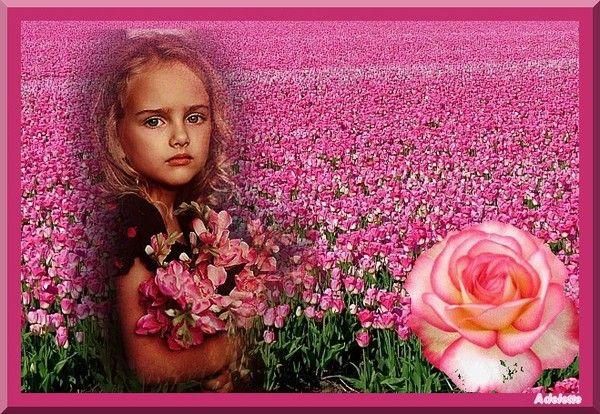 Tulipes et enfant
