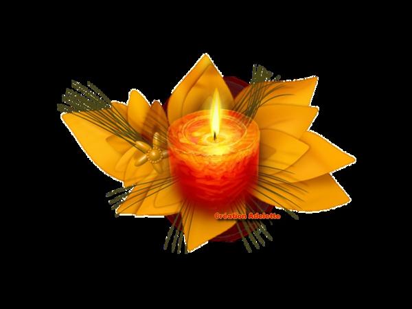 Bougie et fleur jaune