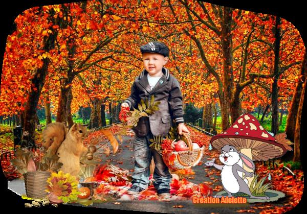 Petit garçon automne