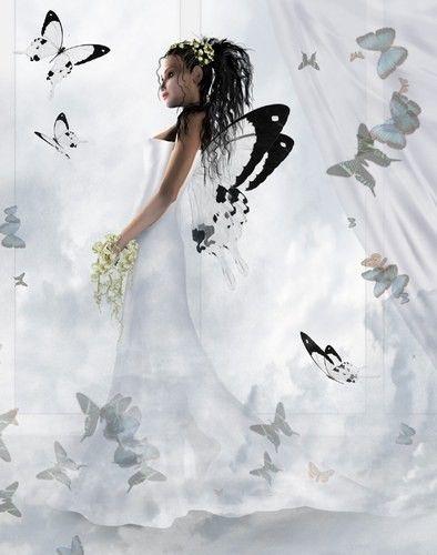 Femme sur fond blanc