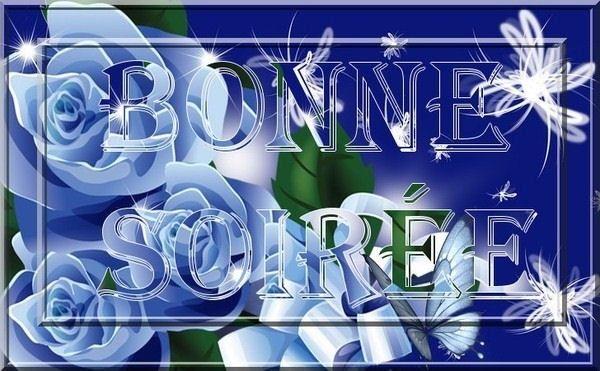 Bonne soirée fond bleu