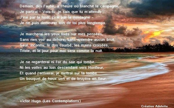 Poème, les contemplations de Victor Hugo