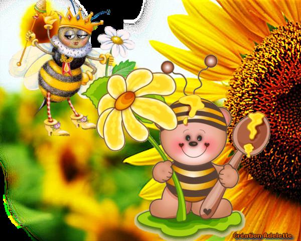 Abeille et fleurs