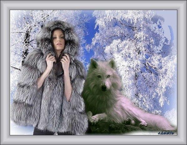 Femme, loup