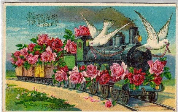 Train fleuri