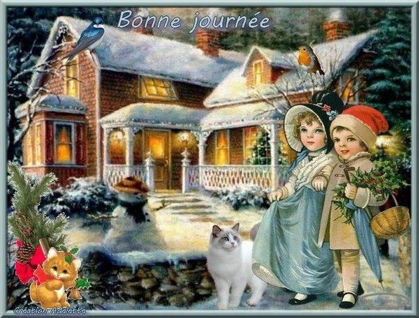 Bonne journée maison neige