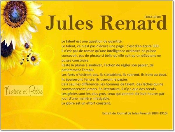 Jules Renard, le talent
