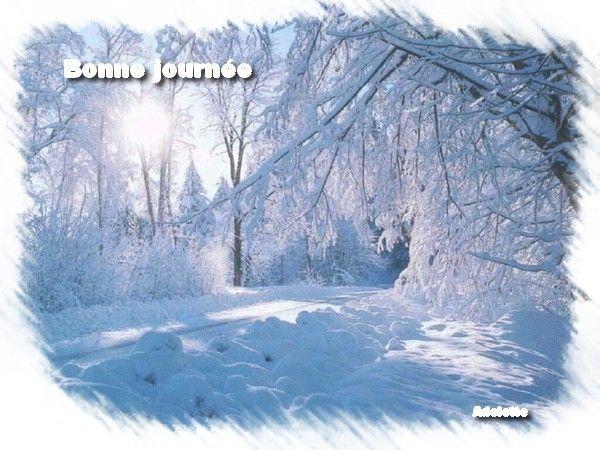 Bonne journée paysage hivernal