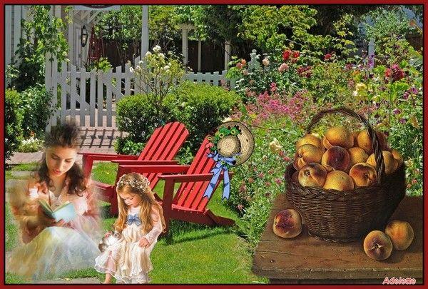 Un jardin ensoleillé