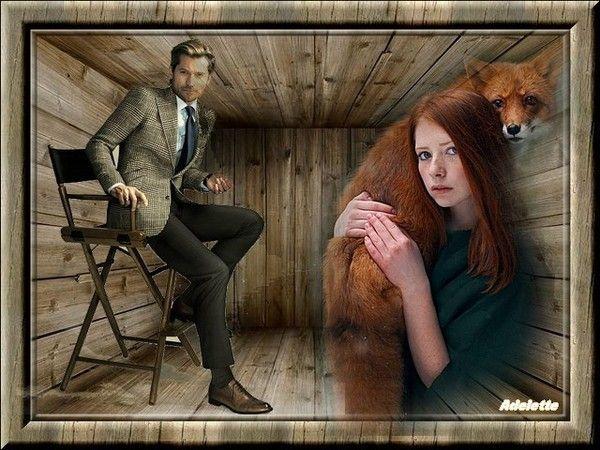 Homme assis et femme