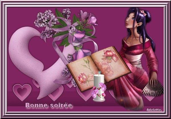Bonne soirée coeur (violet)