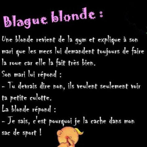 Blague blondes