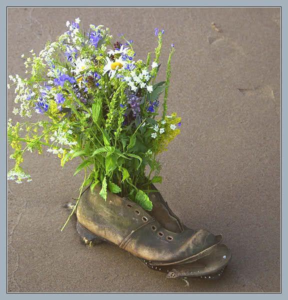 Un soulier fleuri
