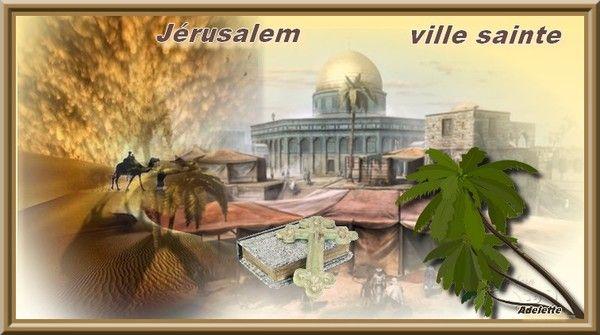 Jérusalem , ville Sainte